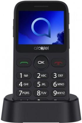 Tlačítkový telefon pro seniory Alcatel 2019G, šedá