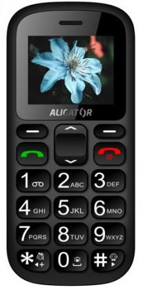 Tlačítkový telefon pro seniory Aligator A321, černá