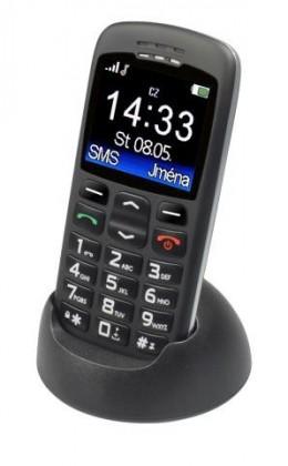 Tlačítkový telefon pro seniory Aligator A670, černá