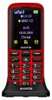 Tlačítkový telefon pro seniory Aligator A700, červená