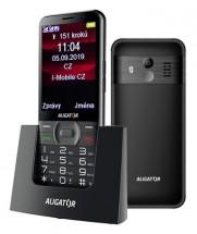Tlačítkový telefon pro seniory Aligator A900, černá POUŽITÉ, NEOP