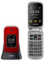 Tlačítkový telefon pro seniory Aligator V650, véčko, červená