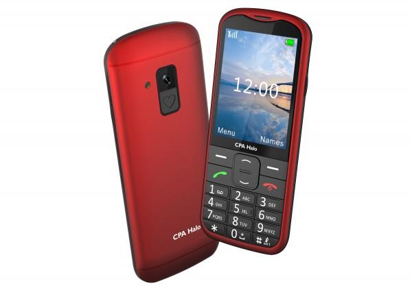 Tlačítkový telefon pro seniory CPA Halo 18, červená