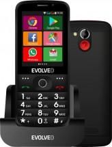 Tlačítkový telefon pro seniory Evolveo EasyPhone AD, černá POUŽIT