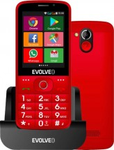 Tlačítkový telefon pro seniory Evolveo EasyPhone AD, červená