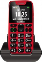 Tlačítkový telefon pro seniory Evolveo EasyPhone, červená