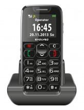 Tlačítkový telefon pro seniory Evolveo EasyPhone EP-500, černá
