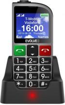 Tlačítkový telefon pro seniory Evolveo EasyPhone FM, stříbrná