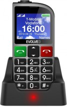 Tlačítkový telefon pro seniory Evolveo EasyPhone FM, stříbrná POU