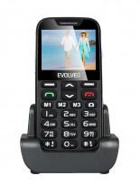 Tlačítkový telefon pro seniory Evolveo EasyPhone XD, černá