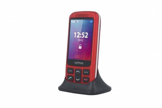 Tlačítkový telefon pro seniory MyPhone Halo S, výsuvný, červená