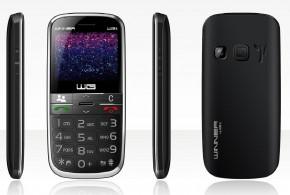 Tlačítkový telefon pro seniory Winner WG15, černá