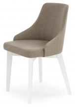 Toledo - Jídelní židle (masiv buk bílá, látka)