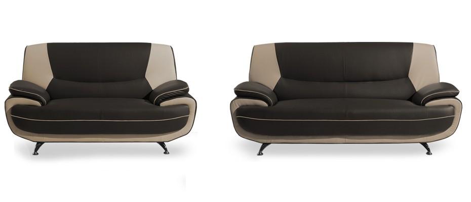Toni-sedací set (brown-hl.látka/ivory-doplň.látka)