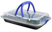 Toro plech na pečení s plastovým víkem 23x36x4 5 cm 390125 ROZBAL