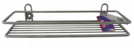 Toro - polička obdelníková,koupelnová,30x10cm (pochromovaný kov)
