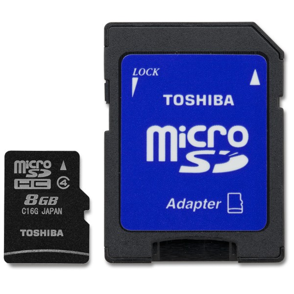 Toshiba micro SD with Adapter  8GB
