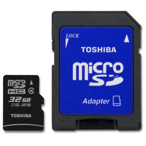 Toshiba microSDHC s adaptérem 32GB
