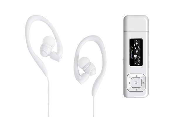 Transcend MP330 8 GB, bílá