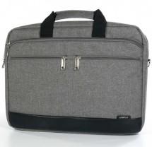 """Trendy taška na notebook,15,6"""",popruh na rameno,šedá z plátna"""