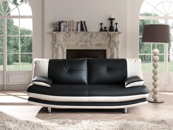 Trojsedák Maliboo (new design black / white,černá/bílá,eko kůže)