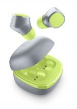 True Wireless sluchátka Cellularline Evade, limetková