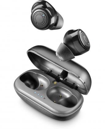 True Wireless sluchátka Cellularline TWS sluchátka PETIT,  dobíjecí pouzdro