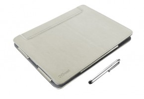 Trust eLiga Elegant Folio Stand with stylus for iPad - sand
