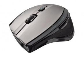Trust MaxTrack Wireless Mouse, stříbrná-černá