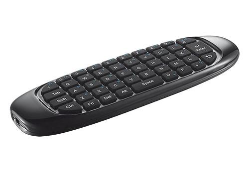Trust Wireless Keyboard & Air Mouse pro TV, US, černá