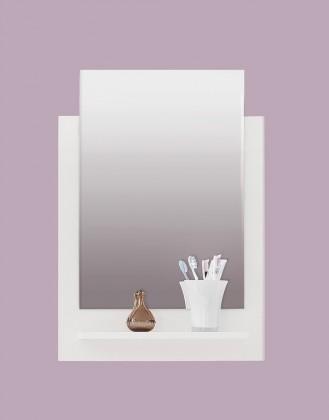 TTB - Zrcadlový panel s poličkou (bílá, zrcadlo)