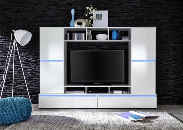 TTX01 - Obývací stěna (bílá mat/bílá lesk)