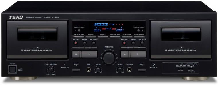 Tuner Dvojitý kazetový magnetofon s USB TEAC W-1200, černý