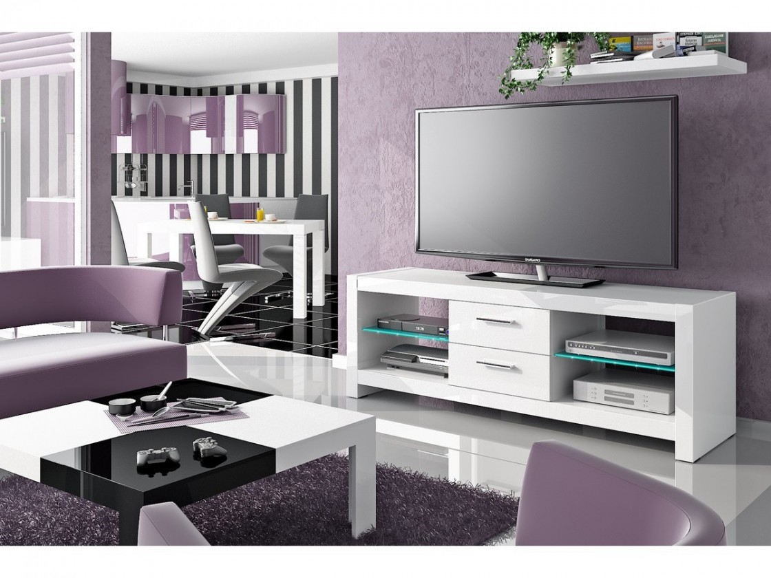 TV, Hifi stolek  - dřevěný Andora - TV stolek