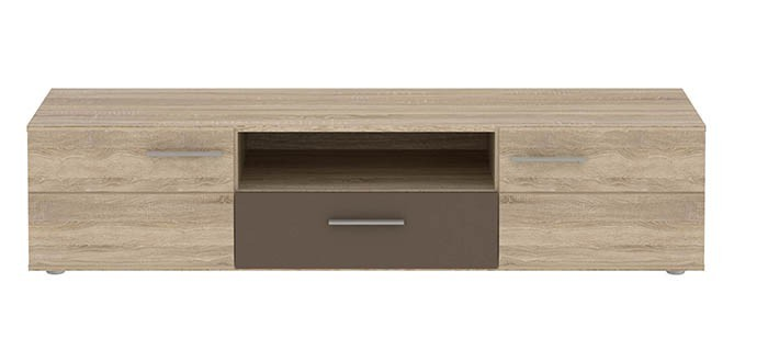 TV, Hifi stolek  - dřevěný Champion-CHPT13(Q85 - Dub sonoma/kakao supermat)