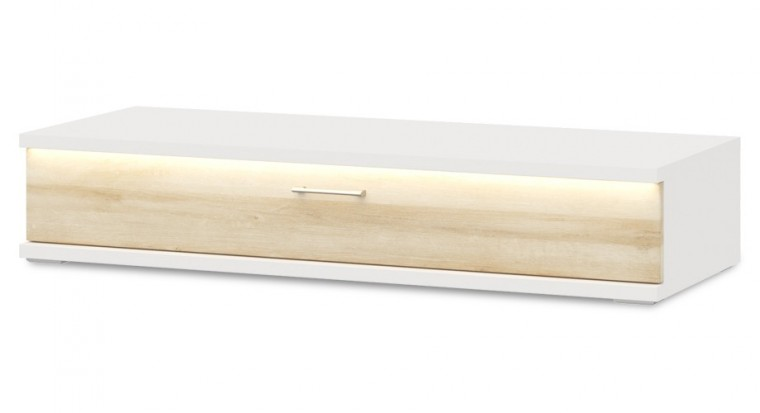 TV, Hifi stolek  - dřevěný Cino - Typ 36 (bílá arctic/dub riviera)