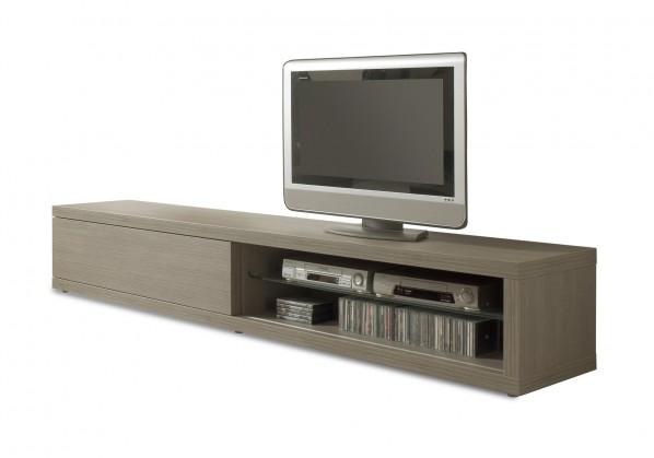 TV, Hifi stolek  - dřevěný Cova - TV element 260 C061 (dub šedý)