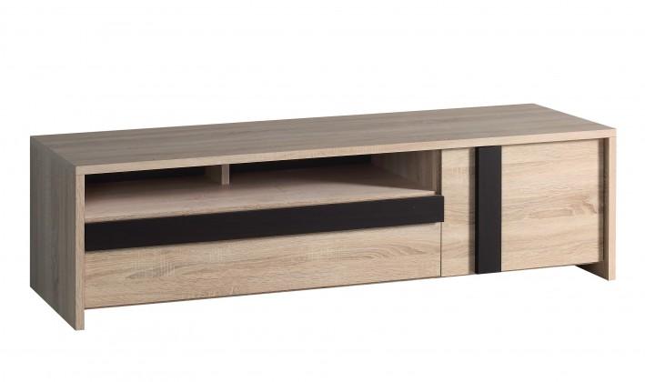 TV, Hifi stolek  - dřevěný Cumbo - TV stolek, CUMT131-Q31 (dub sonoma/dub denver)