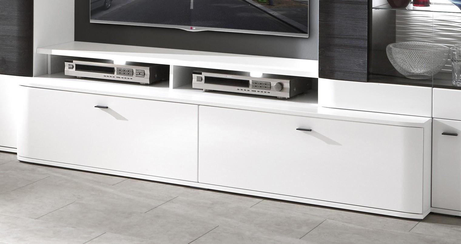 TV, Hifi stolek  - dřevěný Denver - Typ 35 (bílá arctic LDTD)