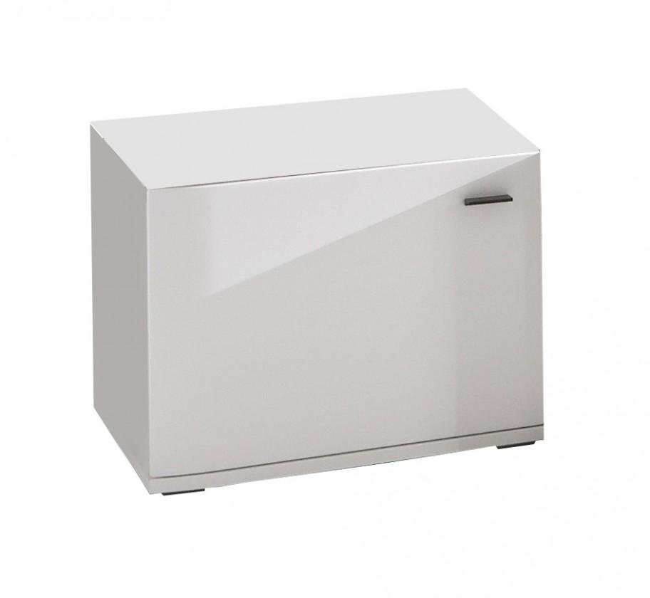 TV, Hifi stolek  - dřevěný Denver - typ 37 (bílá arctic LDTD)