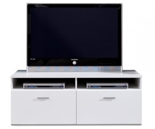 TV, Hifi stolek  - dřevěný Double Typ 31 (Bílá Arctic/Bílá Arctic VL)