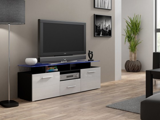 TV, Hifi stolek  - dřevěný Evora mini - TV stolek (korpus - černá)