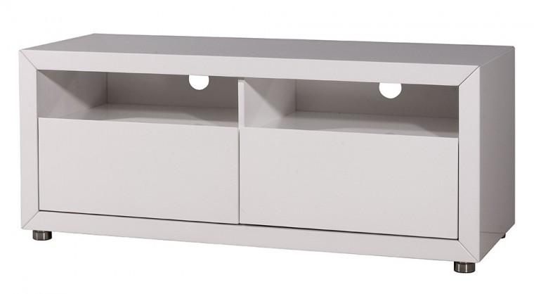 TV, Hifi stolek  - dřevěný GW-Fino - TV skříňka (bílá)