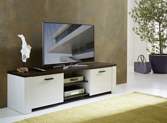 TV, Hifi stolek  - dřevěný GW-Havanna - TV stolek (modřín / dub havana)