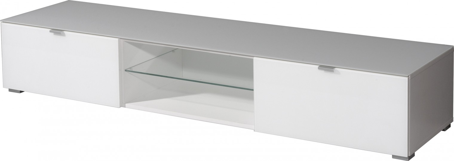 TV, Hifi stolek  - dřevěný GW-Primera-televizní stolek (bílá)