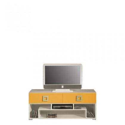 TV, Hifi stolek  - dřevěný LABYRINT LA 11 (krémová/oranžová)