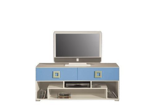 TV, Hifi stolek  - dřevěný LABYRINT LA 11 - TV stolek (krémová/modrá)