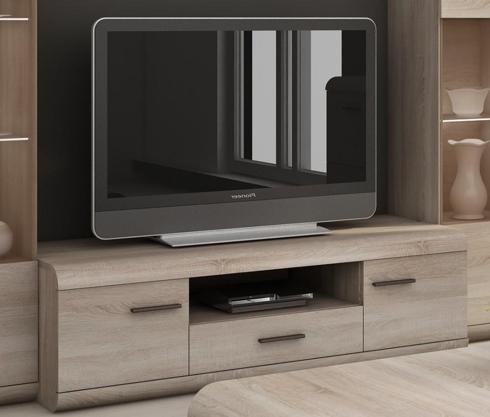 TV, Hifi stolek  - dřevěný Link - RTV stolek (dub sonoma)