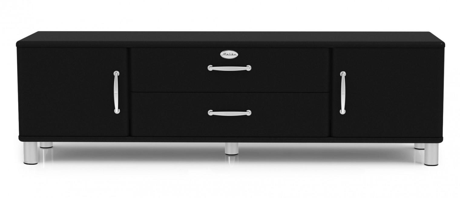 TV, Hifi stolek  - dřevěný Malibu - TV stolek (černá)