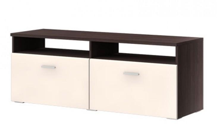 TV, Hifi stolek  - dřevěný Master typ 31 (Dub tmavý wenge/vanilka vysoký lesk)
